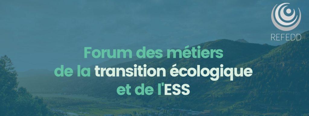 Retour sur le forum des métiers de la Transition Écologique et l'ESS du REFEDD